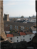 ST5393 : Chepstow St Mary's Church Tower from the Castle by Roy Parkhouse