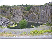 S4130 : Disused slate quarry near Inchanaglogh, Co. Kilkenny by Humphrey Bolton