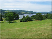 NS3882 : Balloch Castle grounds looking to Loch Lomond. by Johnny Durnan