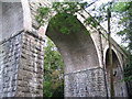 SJ2855 : Disused railway viaduct, Ffrith by Peter Craine