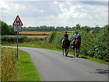 SP5291 : Horse Riding near Broughton Astley by Stephen McKay