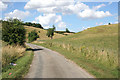 SK9332 : Country lane through Woodnook Valley by Kate Jewell