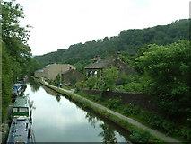 SD9926 : Rochdale Canal Hebden Bridge by Maureen Brian