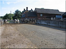SK0425 : Manor Farm, Newton, Staffordshire. by Alan Slater