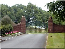 SJ5444 : Gate to Wicksted Hall, Wirswall by Mike Harris