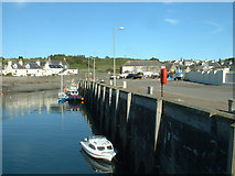 NX3343 : The fishing quay, Port William by David Medcalf