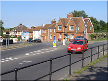 ST5038 : Roundabout at the junction of Bere Lane and Chilkwell Street, Glastonbury by Jim Champion
