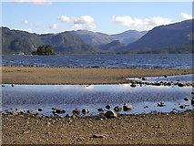 NY2622 : Derwentwater from east of Friar's Crag by Andy Beecroft