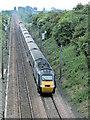 SK7374 : Railway line near Askham by John Rinder