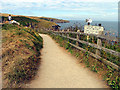 SW9981 : Coastal Path: Port Isaac by Pam Brophy