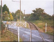 TR2648 : Level crossing, Golgotha by Stephen Craven