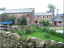 NY6727 : Old cottage and barn at Close House, Knock by Oliver Dixon