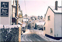 SS6644 : The Centre of Parracombe in winter by Peter Roberts
