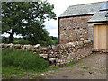 NY6319 : Stile and converted barn. by mauldy