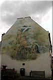 NS6113 : Castle Hotel Mural, New Cumnock by L J Cunningham