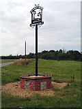 TM3886 : Ilketshall St Andrew - Village Sign by Linda Bailey