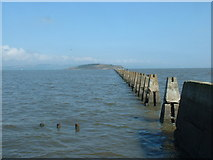 NT1977 : The Causeway line at high tide by David Medcalf