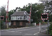 NZ5315 : Signal Box : Nunthorpe Station by Hugh Mortimer