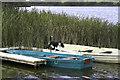 SJ4330 : Boats at Crose Mere by John Harding
