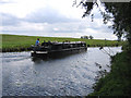 TL4073 : Narrow Boat on the Great Ouse, Willingham, Cambs by Rodney Burton
