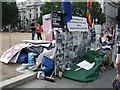 TQ3079 : Brian Haw's protest camp in Parliament Square by Timothy Baldwin