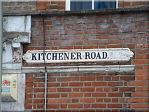 TQ2789 : Kitchener road sign by Bob Westfield