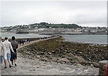 SW5130 : Causeway to Marazion from St Michael's Mount by Rich Tea