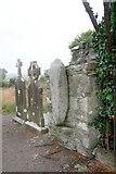 N6977 : Ogham stone, Castlekeeran Church by Bob Embleton