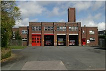 SX9193 : Exeter fire station by Kevin Hale