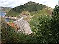 SN9187 : The dam of Llyn Clywedog Reservoir by Philip Halling