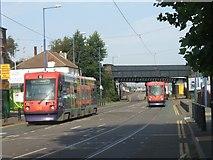 SO9297 : Trams on the Bilston Road by John M