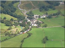 NY1717 : Buttermere village viewed from above by Nigel Davies