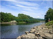 NN9357 : Suspension Bridge across the River Tummel by Richard Slessor