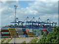 TM2734 : Containers and cranes by Keith Evans