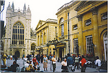 ST7564 : Bath Abbey and Pump Room by Colin Smith