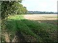 SU1791 : trackbed of Swindon and Highworth Light Railway by Brian Robert Marshall