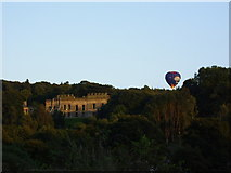 NZ1758 : Hot air balloon by Gibside Hall by P Glenwright
