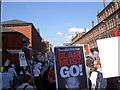 SJ8397 : Protest march by Keith Williamson
