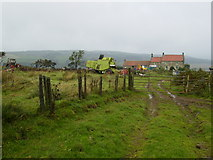 NZ7714 : The track and the landscape above America House by Phil Catterall