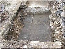 SE1321 : Old cellar floor, Delf Hill, Rastrick by Humphrey Bolton