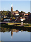 SX9291 : St Leonard's Church, Exeter from across the canal by Derek Harper
