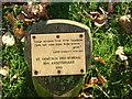 NZ1716 : Memorial plaque on village green by Stanley Howe