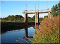 SJ6553 : Sluice gates of weir on the River Weaver by Espresso Addict