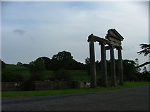 N5676 : The Ruined Portico of Loughcrew House, Oldcastle, Meath by Dave Napier