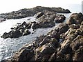 NX0782 : Offshore rocks at Ballantrae by Oliver Dixon