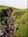 V7954 : Small waterfall below Knockowen by Richard Webb