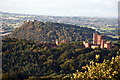 SJ5357 : Peckforton and Beeston Castles by Peter Styles
