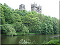 NZ2742 : Durham Cathedral from the river bank by Toby