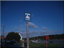 TM0321 : Rowhedge village sign by Roger Temple
