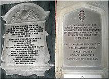 TA0817 : Thornton Curtis War Memorial Tablets by David Wright